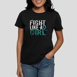 Fight Like a Girl 31.8 PKD Women's Dark T-Shirt