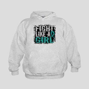 Fight Like a Girl 31.8 PKD Kids Hoodie