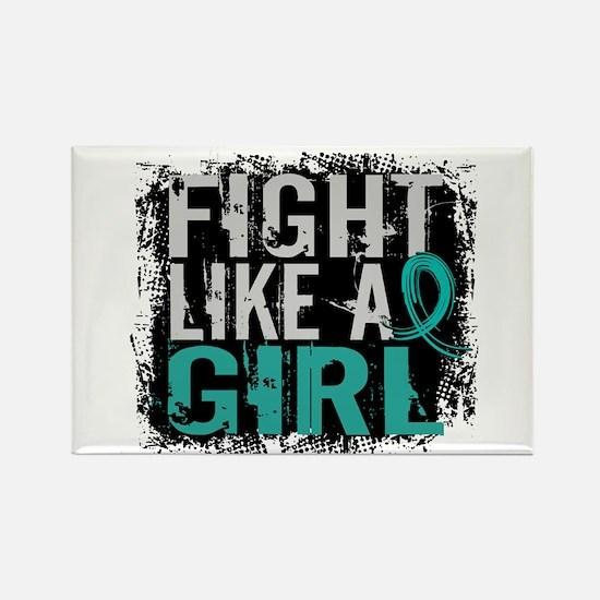 Fight Like a Girl 31.8 PKD Rectangle Magnet