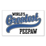 World's Greatest PeePaw Sticker (Rectangle)