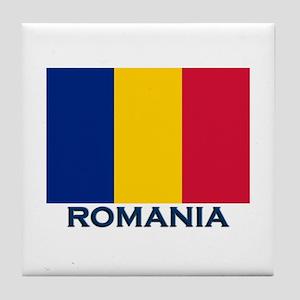 Romania Flag Merchandise Tile Coaster