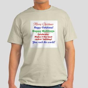 Funny Holiday Greetings Men's Light T-Shirt