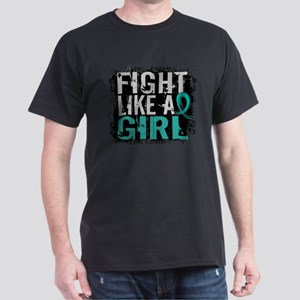 Licensed Fight Like A Girl 31.8 Ovari Dark T-Shirt