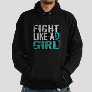 Licensed Fight Like A Girl 31.8 Ovar Hoodie (dark)