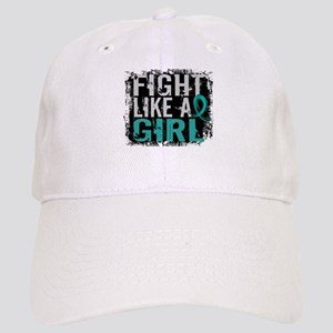 Licensed Fight Like A Girl 31.8 Ovarian Cancer Cap