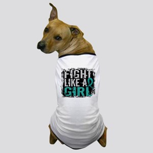 Licensed Fight Like A Girl 31.8 Ovaria Dog T-Shirt