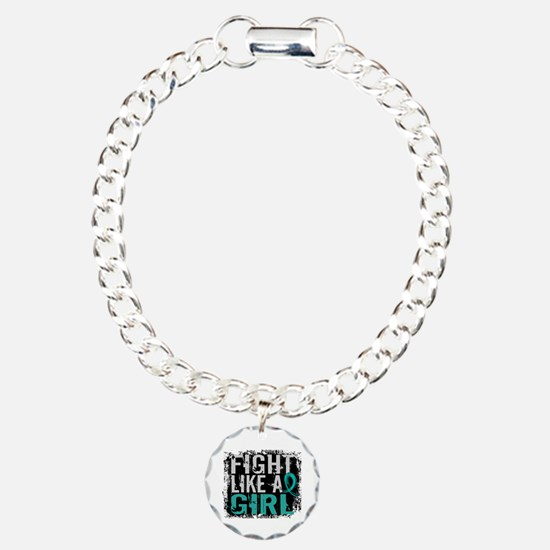 Licensed Fight Like A Gi Charm Bracelet, One Charm