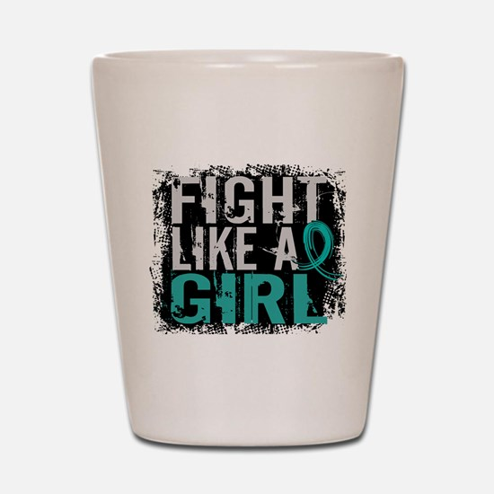 Licensed Fight Like A Girl 31.8 Ovarian Shot Glass