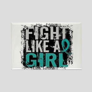 Licensed Fight Like A Girl 31.8 O Rectangle Magnet