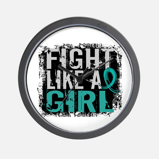 Licensed Fight Like A Girl 31.8 Ovarian Wall Clock