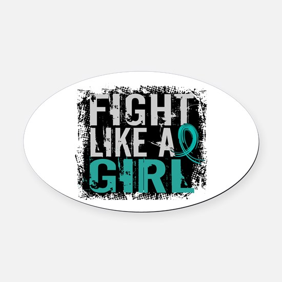 Licensed Fight Like A Girl 31.8 Ov Oval Car Magnet