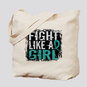 Licensed Fight Like A Girl 31.8 Ovarian C Tote Bag