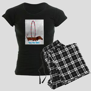Hula Hoop Dachshund Pajamas