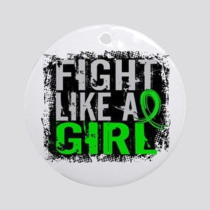 Licensed Fight Like a Girl 31.8 NH Round Ornament