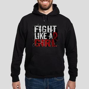 Licensed Fight Like a Girl 31.8 Mult Hoodie (dark)