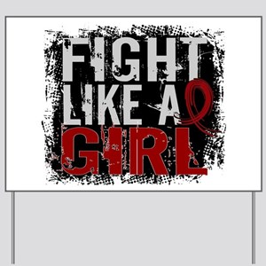 Licensed Fight Like a Girl 31.8 Multiple Yard Sign