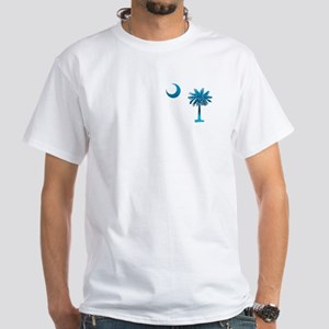 Palmetto & Cresent Moon White T-Shirt