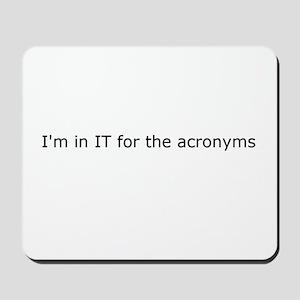 Acronyms Mousepad