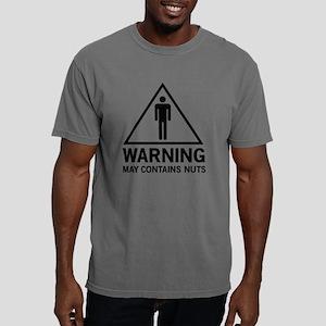 Warning May Contain Nuts Mens Comfort Colors Shirt