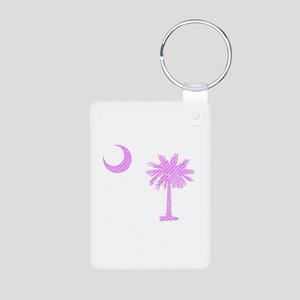 Palmetto & Cresent Moon Aluminum Photo Keychain