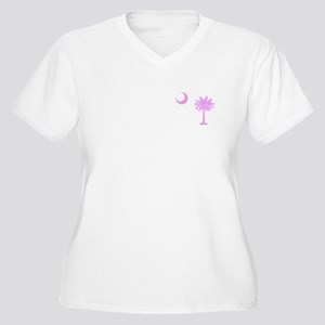 Palmetto & Cresent Moon Women's Plus Size V-Neck T