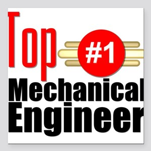 "Top Mechanical Engineer Square Car Magnet 3"" x 3"""