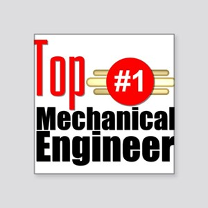"Top Mechanical Engineer Square Sticker 3"" x 3"""