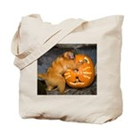 Tamarin With Pumpkin Tote Bag