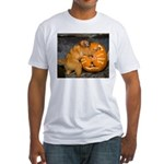 Tamarin With Pumpkin Fitted T-Shirt