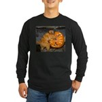 Tamarin With Pumpkin Long Sleeve Dark T-Shirt