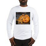Tamarin With Pumpkin Long Sleeve T-Shirt