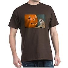 Meerkat Next to Pumpkin Dark T-Shirt