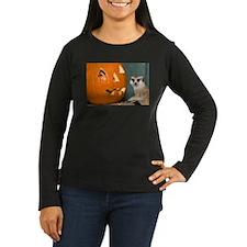 Meerkat Next to Pumpkin Women's Long Sleeve Dark T