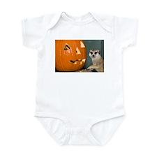 Meerkat Next to Pumpkin Infant Bodysuit