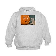 Meerkat Next to Pumpkin Kids Hoodie