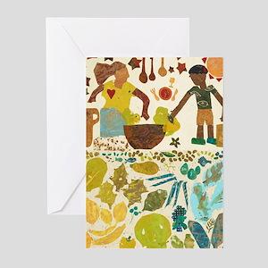 Community art - garden harvest Greeting Cards