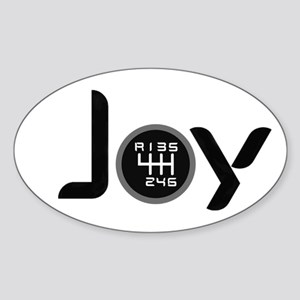 Joy-6sp Black (Clear Pattern, RUL) Sticker (Oval)