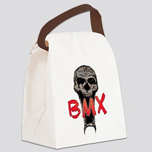 BMX skull Canvas Lunch Bag