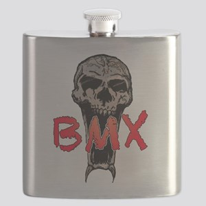 BMX skull Flask