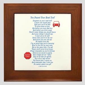 You Passed Road Test Framed Tile