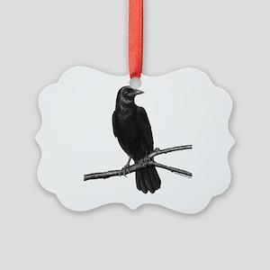 Black Crow ~ Picture Ornament