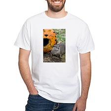 Otter With Pumpkin White T-Shirt