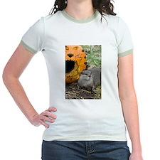 Otter With Pumpkin Jr. Ringer T-Shirt