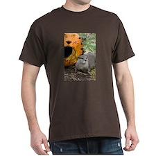 Otter With Pumpkin Dark T-Shirt