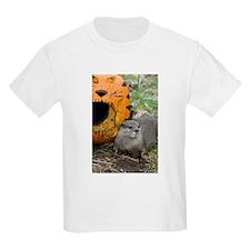 Otter With Pumpkin Kids Light T-Shirt
