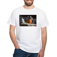 Lemurs With Pumpkin White T-Shirt