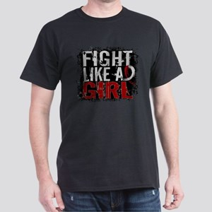 Licensed Fight Like a Girl 31.8 Head/ Dark T-Shirt