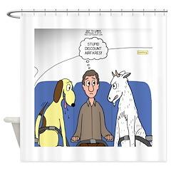 Discount Airfare Issues Shower Curtain