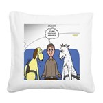 Discount Airfare Issues Square Canvas Pillow