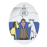 Discount Airfare Issues Ornament (Oval)
